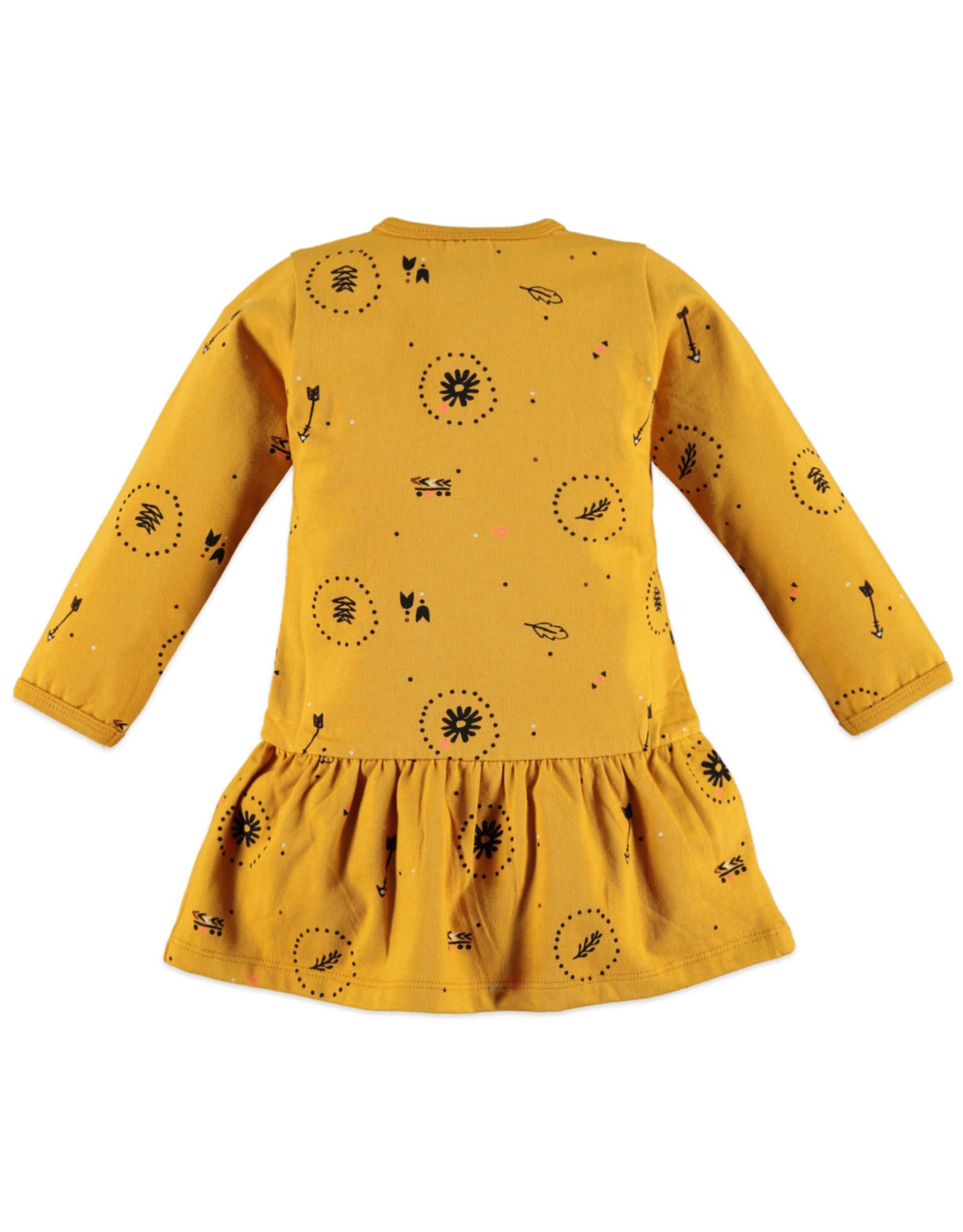 Babyface girls dress/ocher