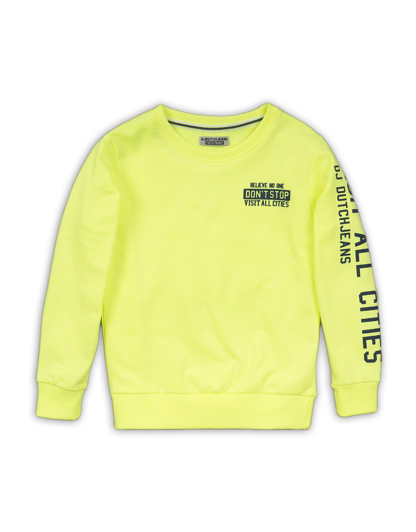 Dutch Jeans Sweater, Neon yellow