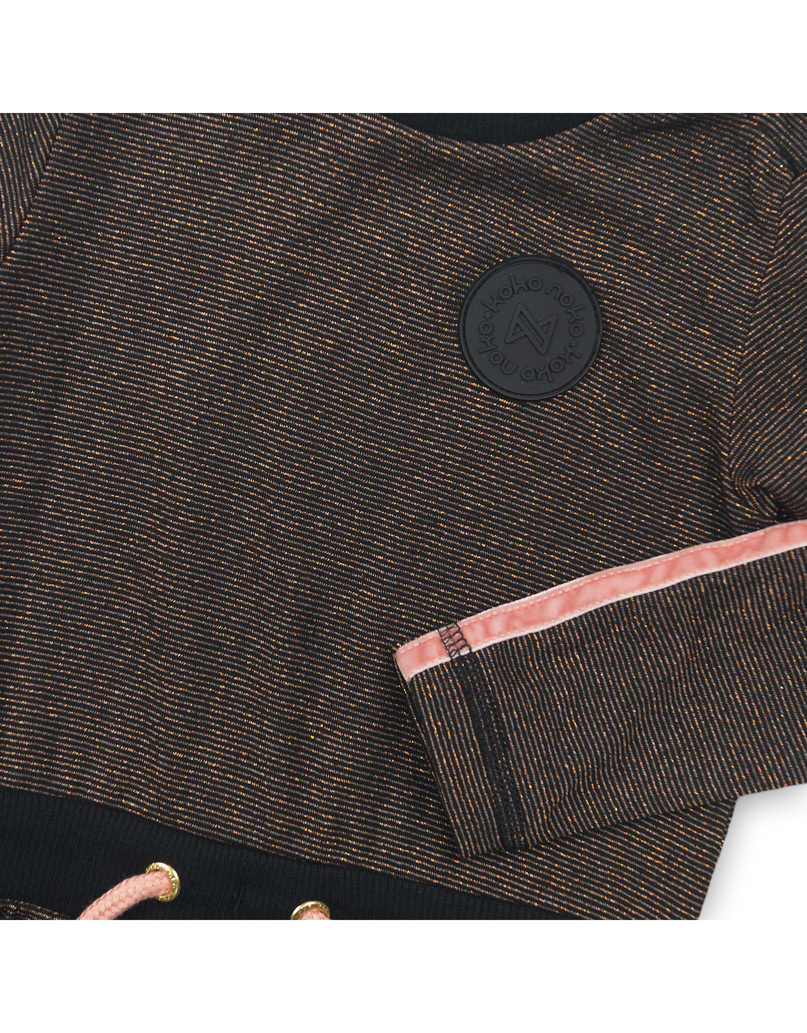Koko Noko Dress, Rosé glitter + black