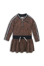 Koko Noko Dress, Brown aop
