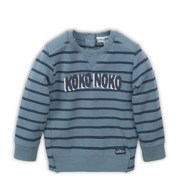 Koko Noko Sweater,  Teal green + navy