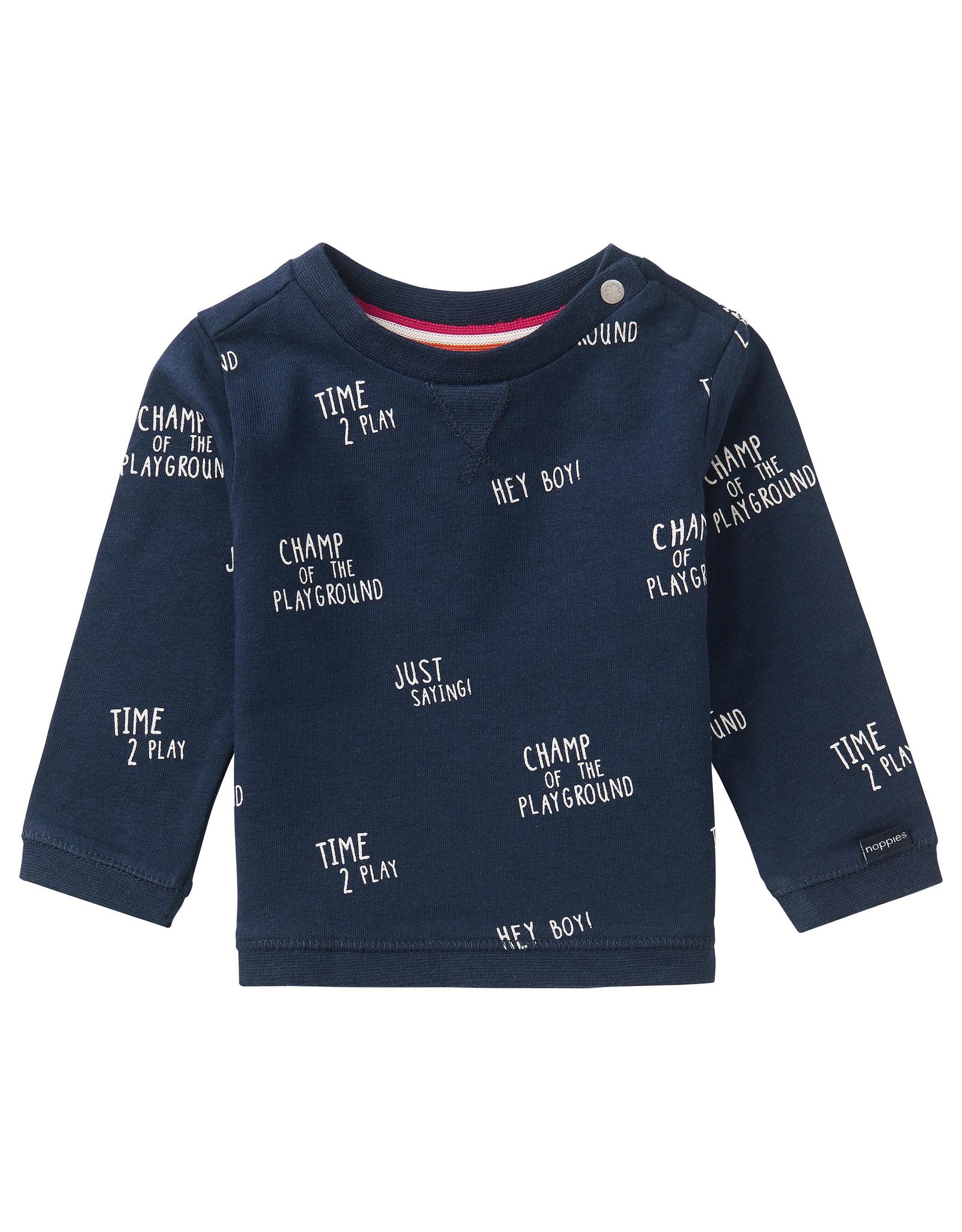 Noppies B T-Shirt LS Birkenhead AOP, Peacoat