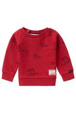 Noppies B Sweater LS Springs AOP, Scarlet Sage
