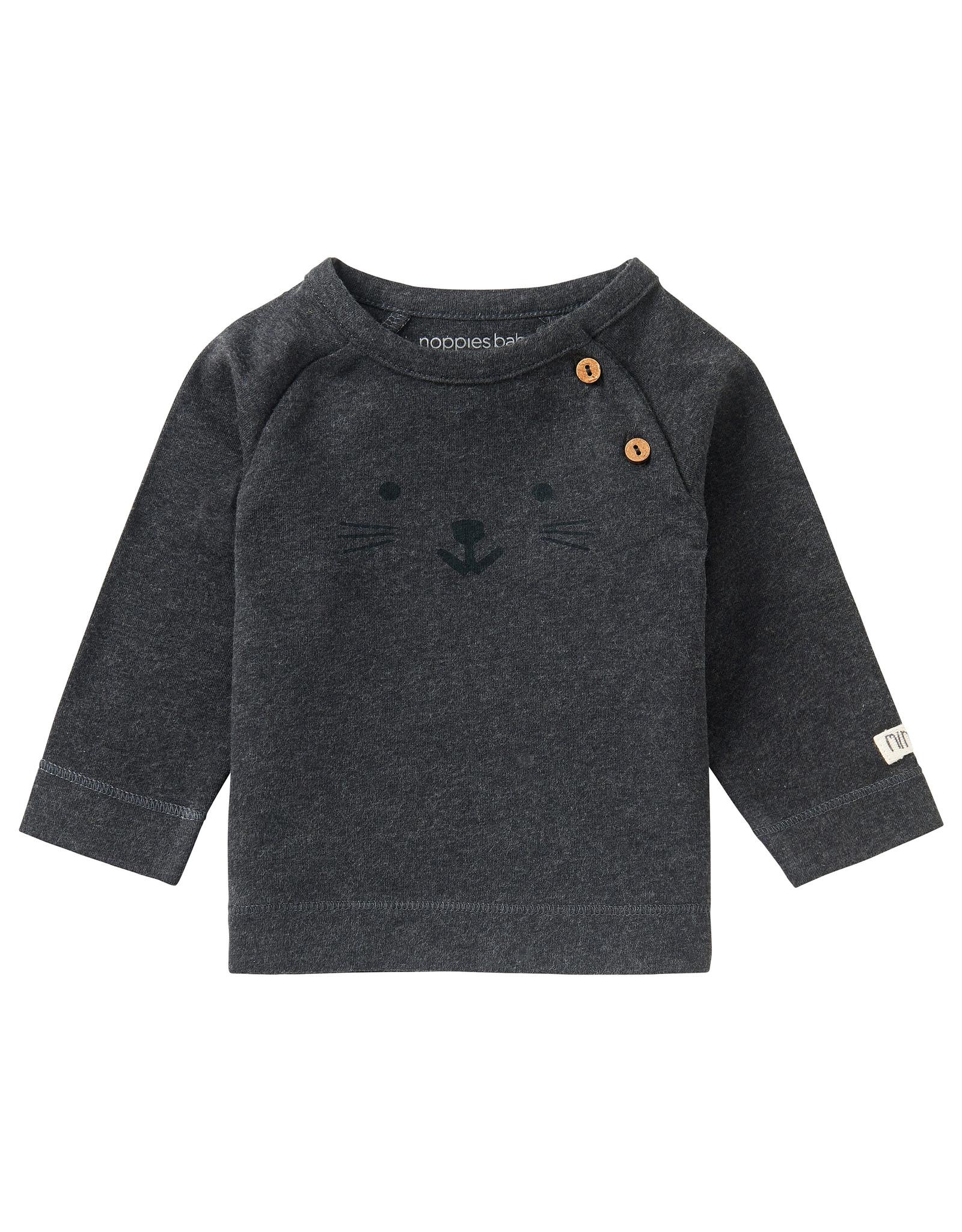 Noppies U T-Shirt LS Arlington, Charcoal Melange