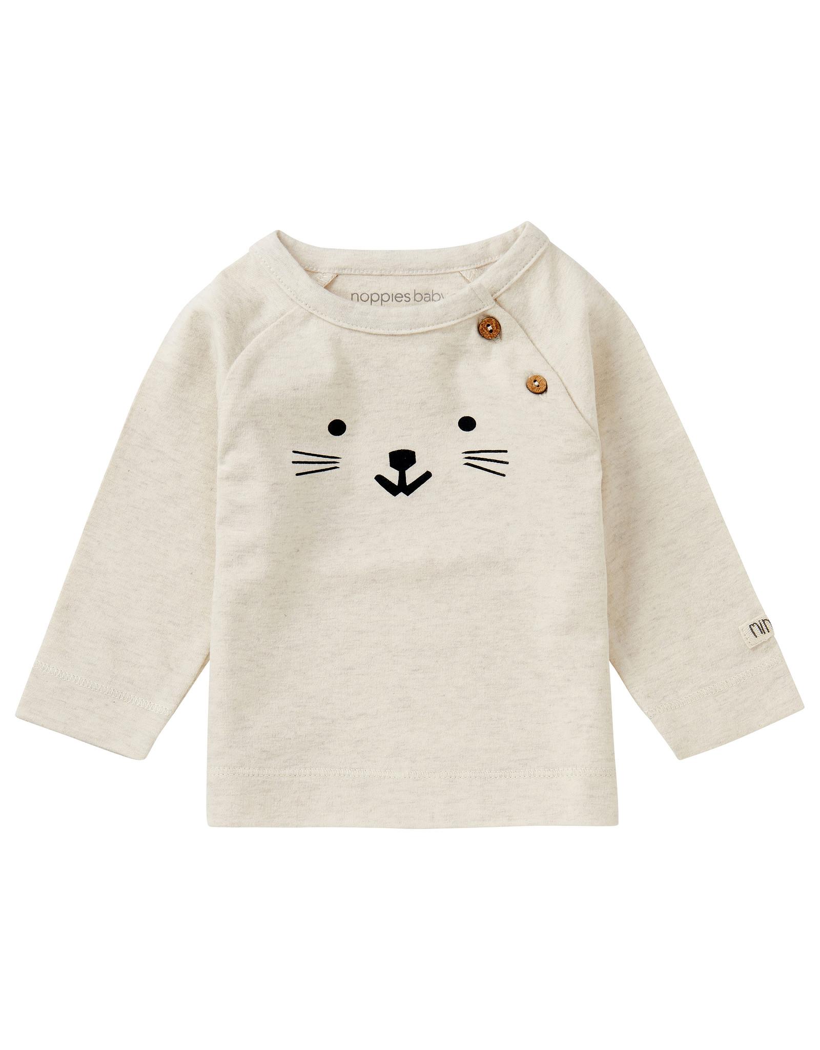 Noppies U T-Shirt LS Arlington, Oatmeal