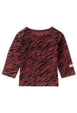 Noppies U T-Shirt LS Kroonstad AOP, Mahoganey