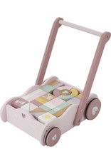 Little Dutch Little Dutch houten Blokkenkar pink