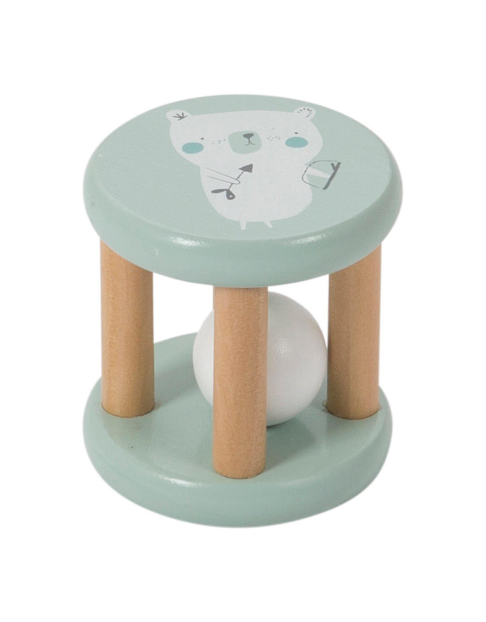 Little Dutch Little Dutch houten rammelaar roller mint
