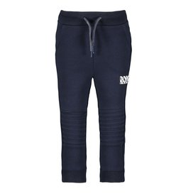 B-Nosy Boys quilted sweat pants with folded knee parts, Oxford blue