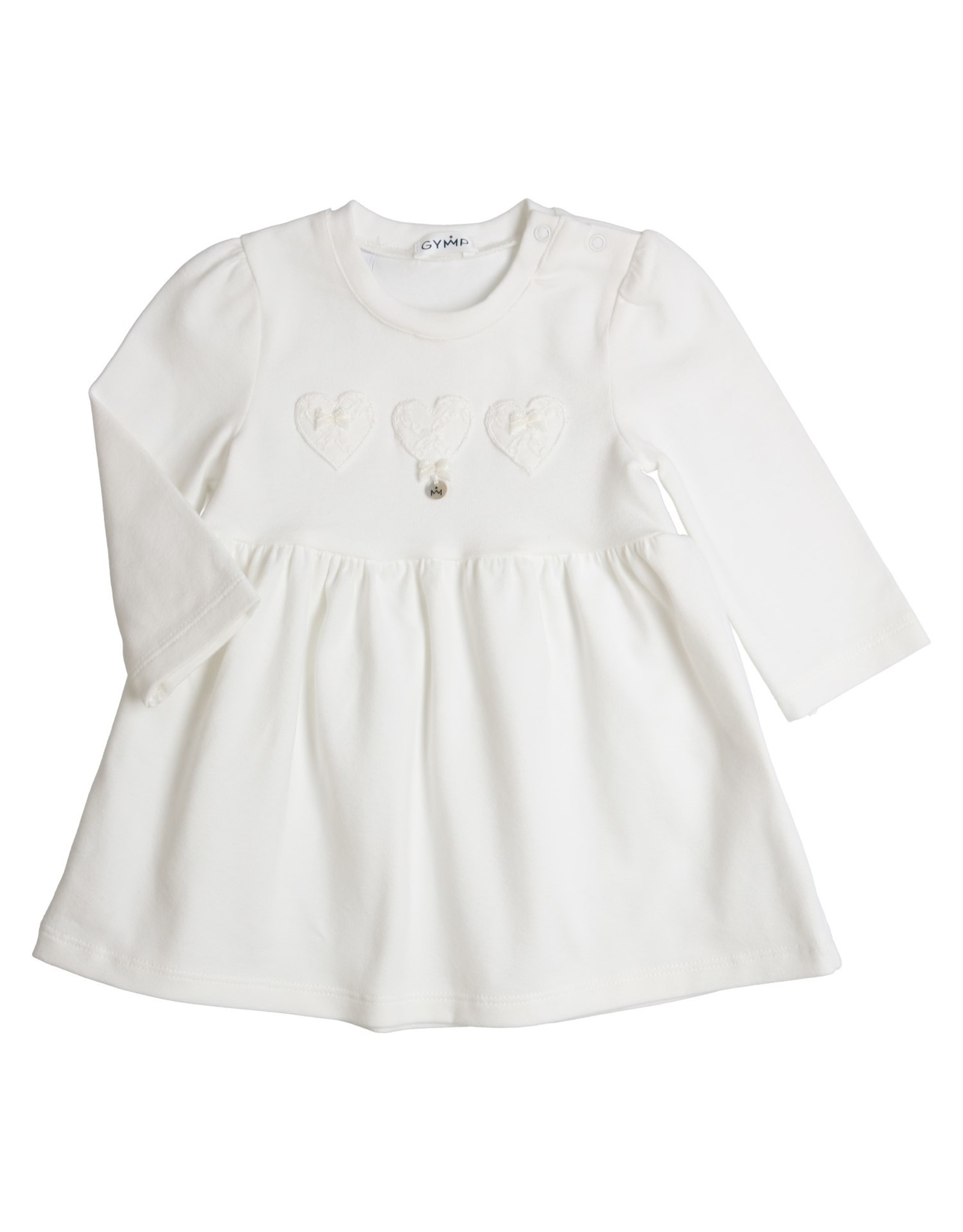 Gymp JURK EMBROIDERY HEARTS ,  OFF-WHITE