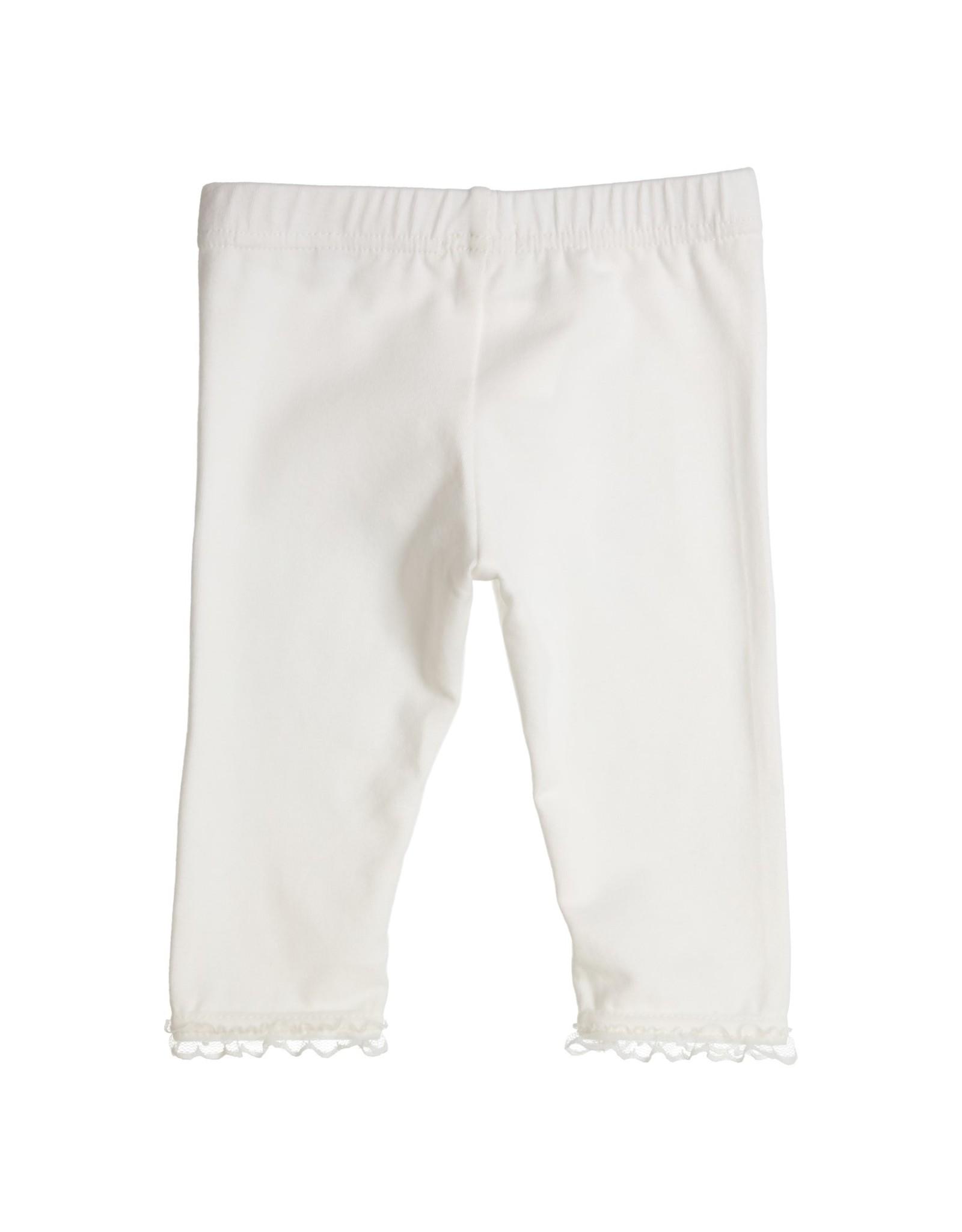 Gymp LEGGING - RUFFLE,  OFF-WHITE