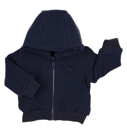 Gymp CARDIGAN - HOOD AND ZIPPER,  MARINE