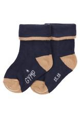 Gymp SOKKEN - boys socks,  MARINE/BEIGE