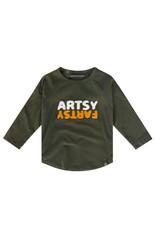Your Wishes Artsy Fartsy   Raglan Longsleeve, Desk Green