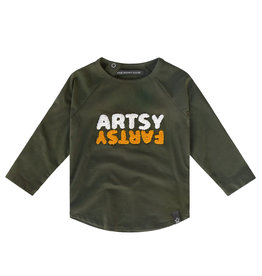 Your Wishes Artsy Fartsy | Raglan Longsleeve, Desk Green