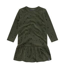 Your Wishes Splatters | Shift Dress, Desk Green