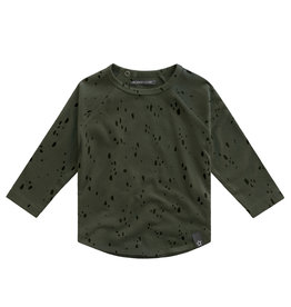 Your Wishes Splatters | Raglan Longsleeve, Desk Green