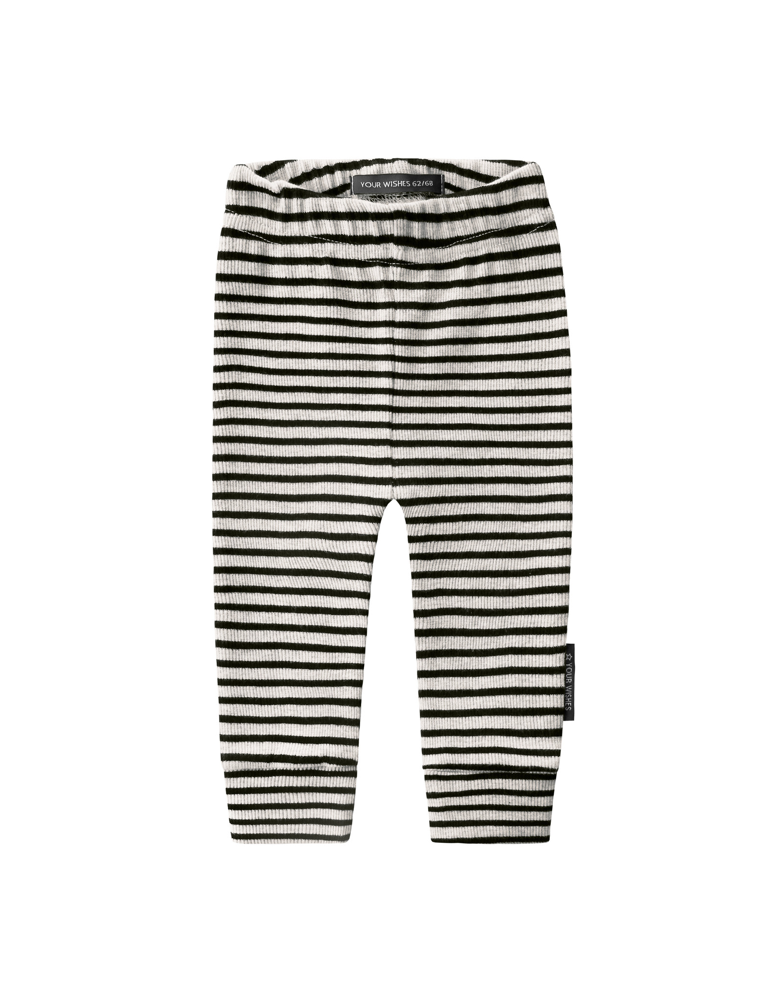 Your Wishes Beige - Stripes | Fitted Pants, Chalk