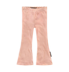 Your Wishes Rib   Flared Legging, Old Pink