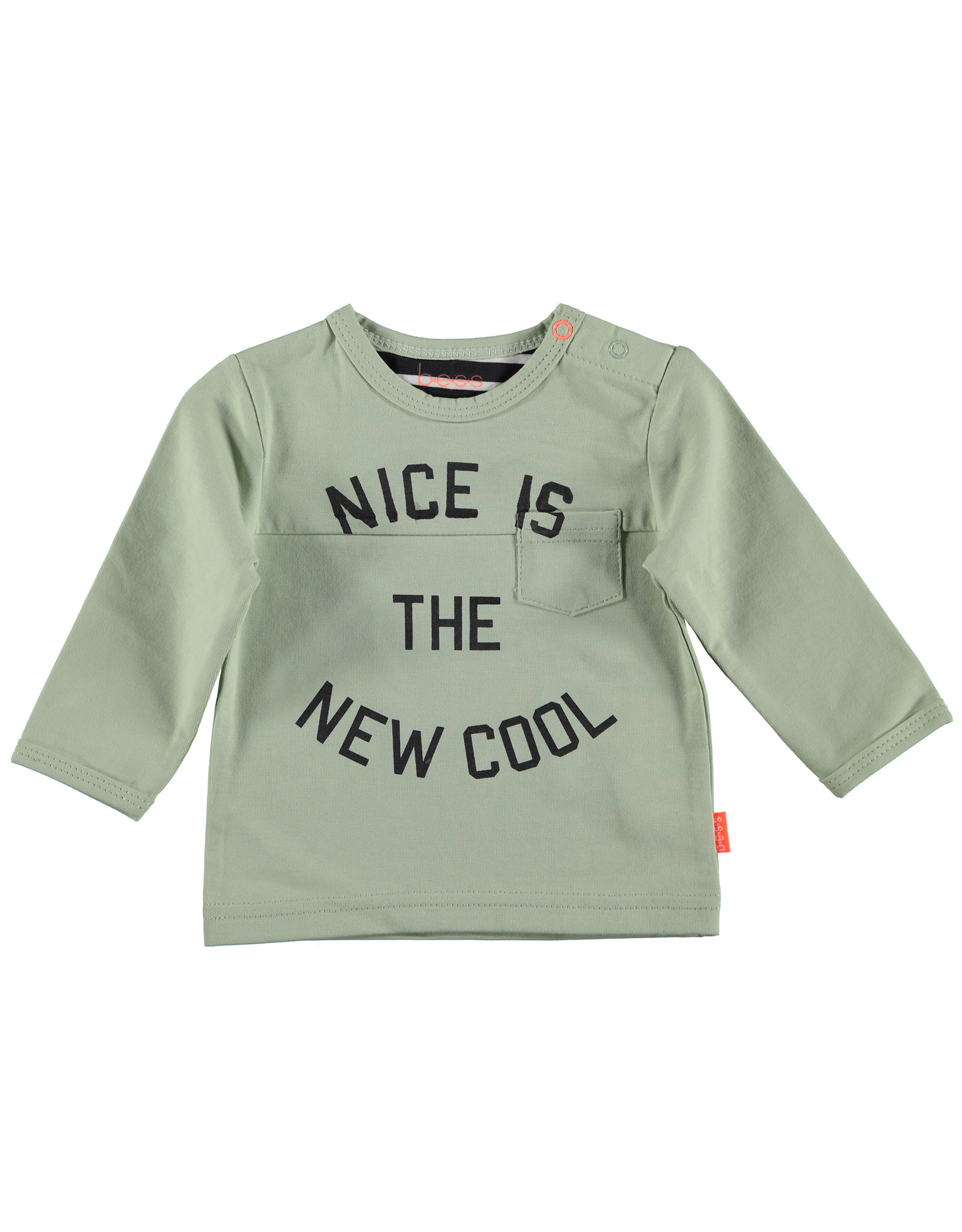 B.E.S.S. Shirt l.sl. Nice is the New Cool, Green