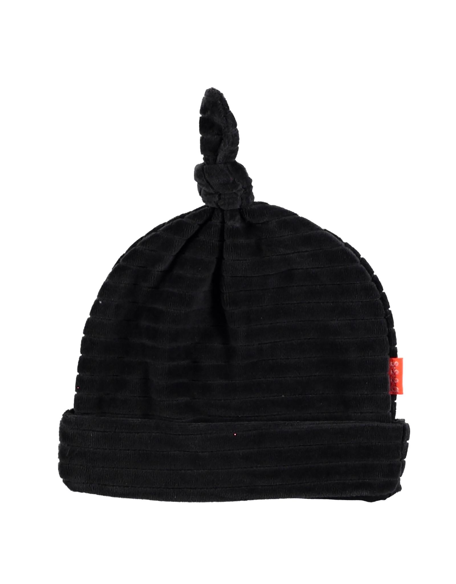 B.E.S.S. Hat Velvet Striped, Anthracite