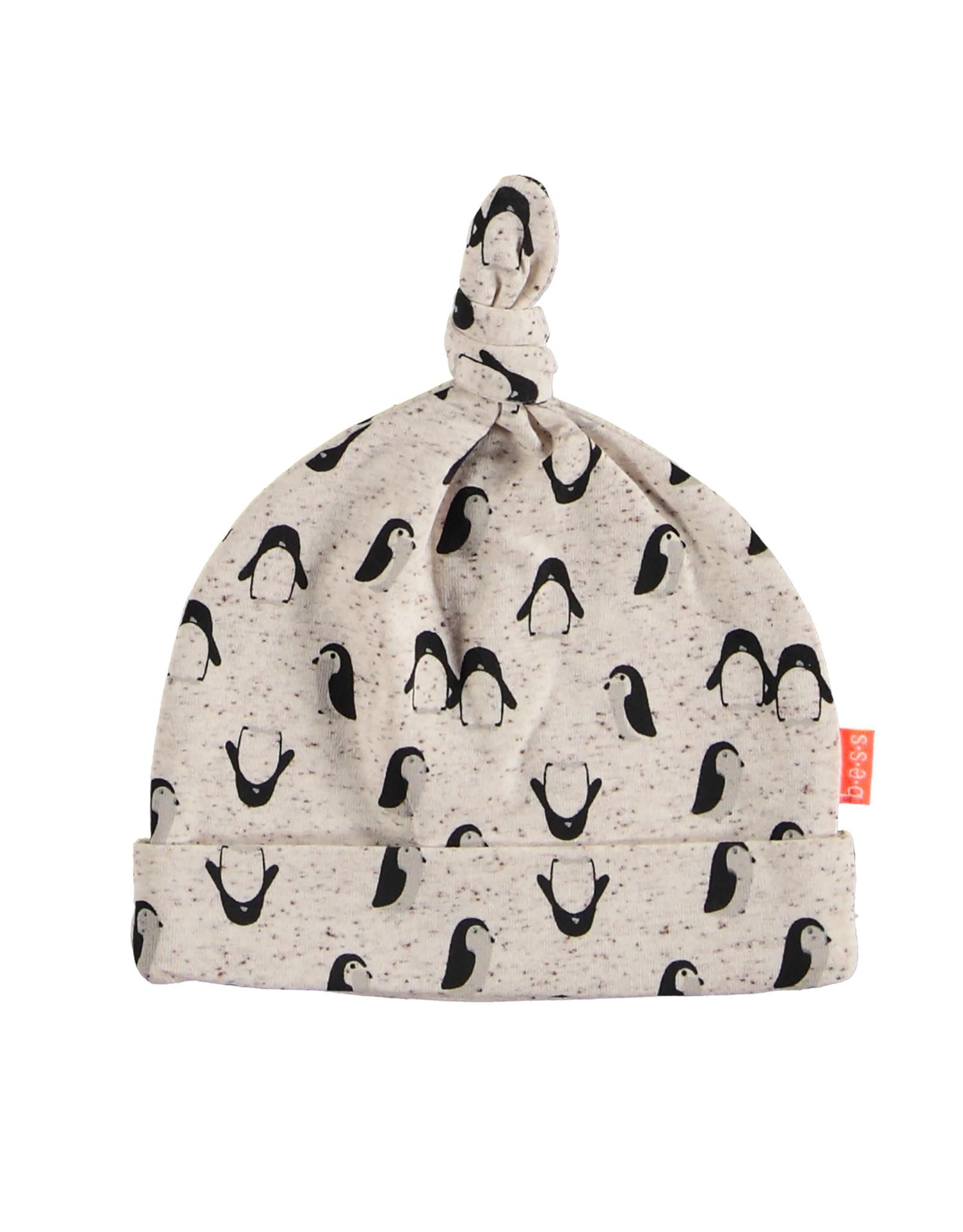 B.E.S.S. Hat AOP Penguin, White