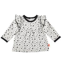 B.E.S.S. Shirt l.sl. Hearts with Ruffles, White
