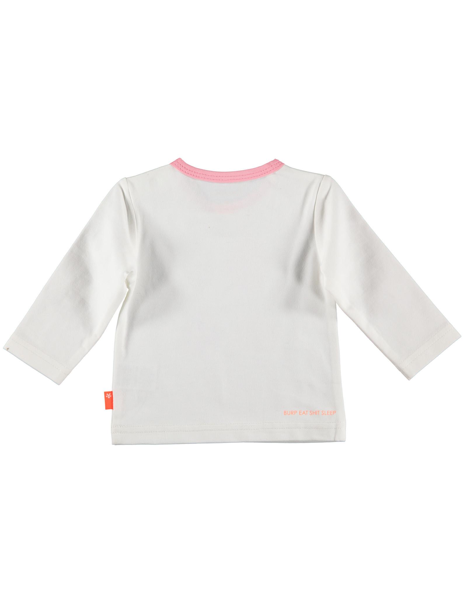 B.E.S.S. Shirt l.sl. Leaves, White