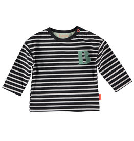 B.E.S.S. Shirt l.sl. Striped B, Anthracite