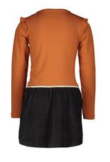 Moodstreet MT dress with velours skirt, Rust
