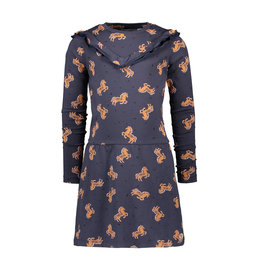 Moodstreet MT dress AOP, Navy