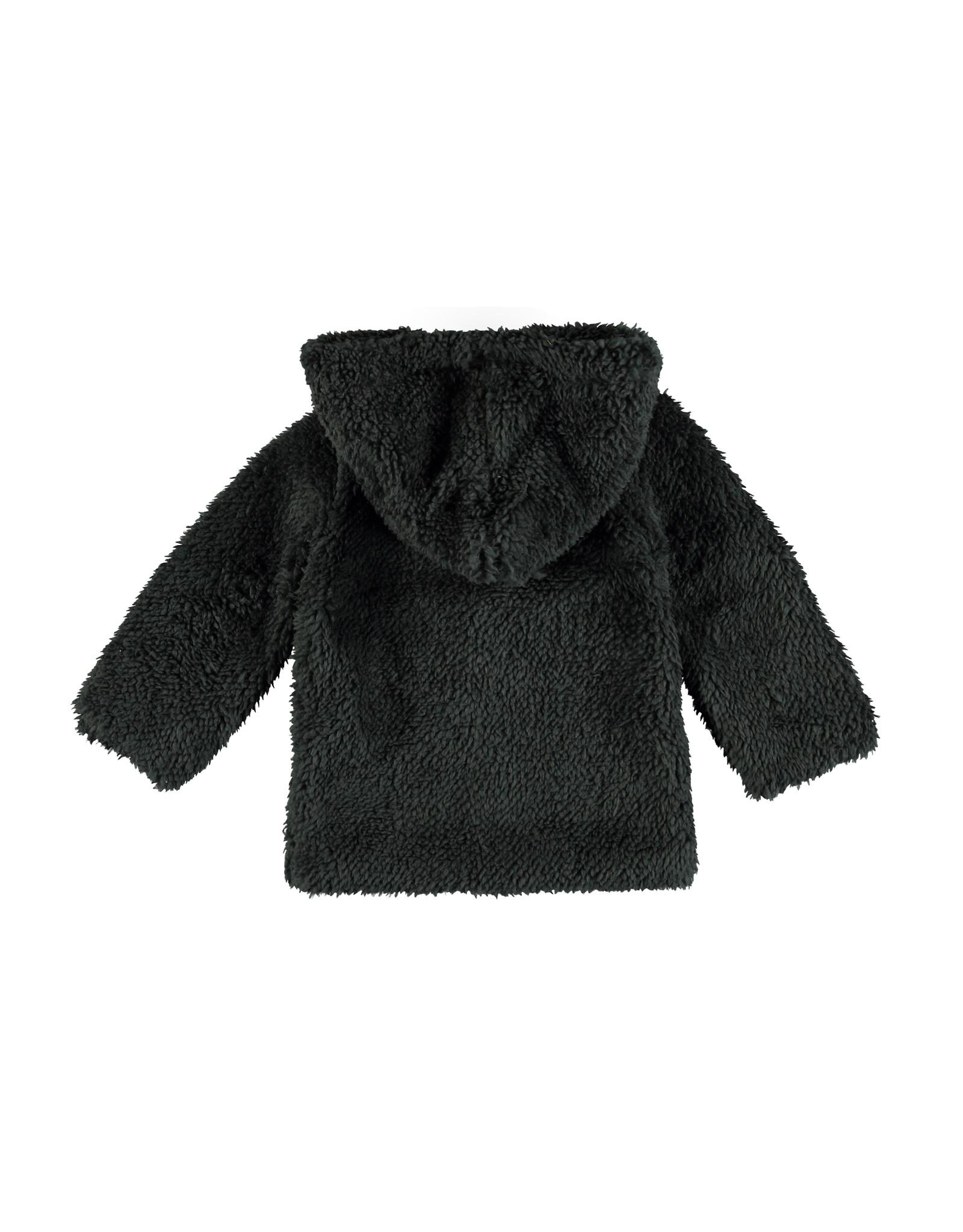 Bampidano Little Bampidano New Born teddy jacket Beau with hood FREE HUGS, anthra melee
