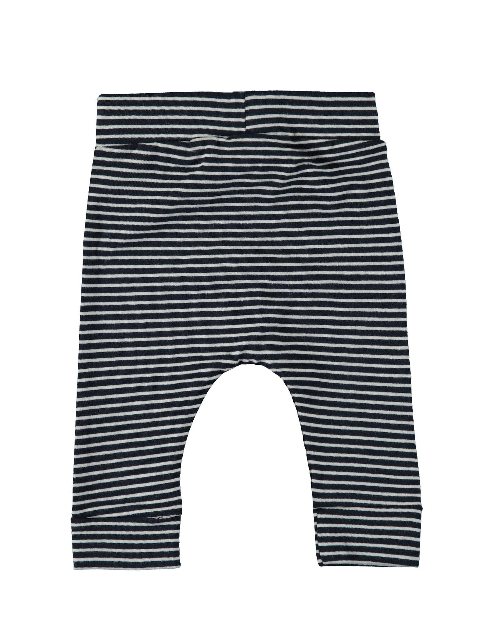 Bampidano Little Bampidano New Born fitted trousers Ayden plain/yd str, stripe navy