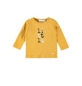 Bampidano Little Bampidano New Born longsleeve Brandon plain/yd stripe FREE HUGS, ocre yellow