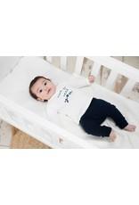 Bampidano Little Bampidano New Born longsleeve Brandon plain/yd stripe FREE HUGS, white