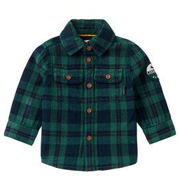Noppies B Shirt LS Klipplaat Check, Farm Green