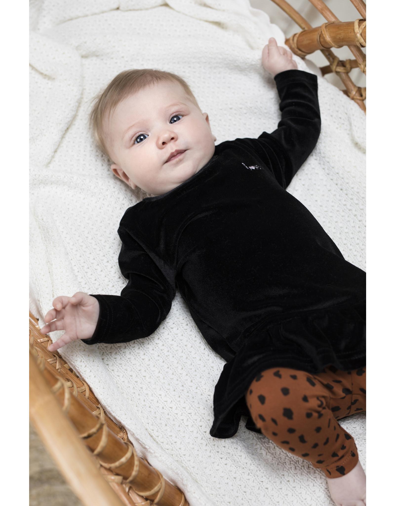Bampidano Little Bampidano Baby Girls legging Coco plain/allover print, mocha aop