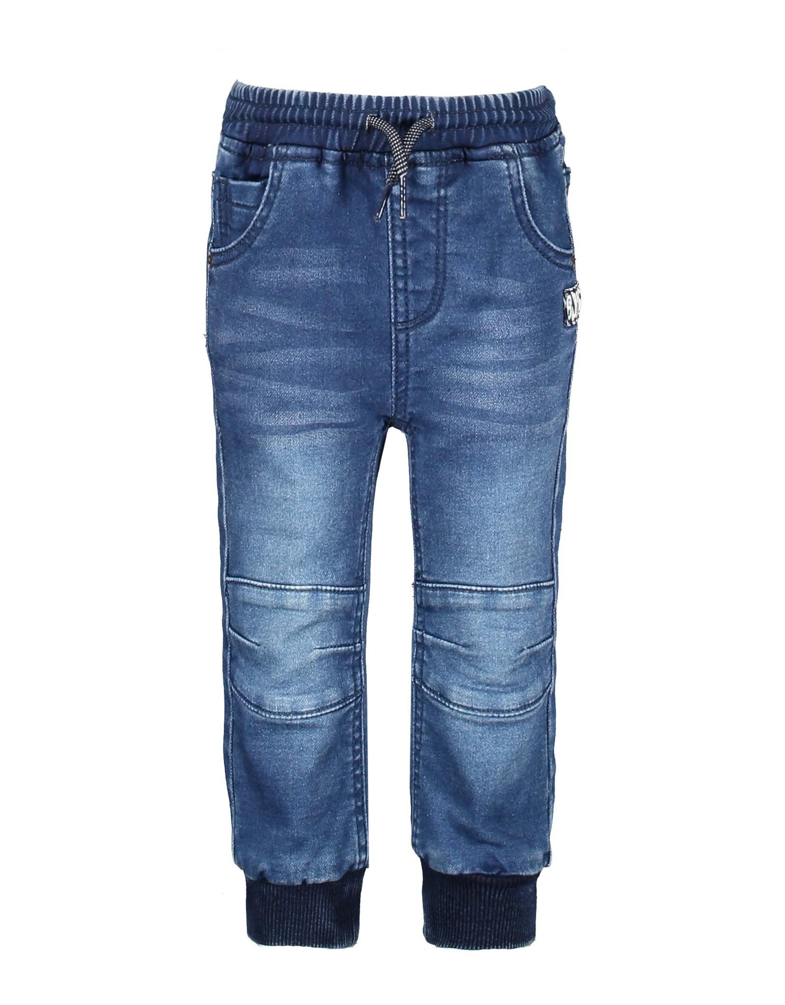 B-Nosy Boys jog denim pants with smocked wb, Dark blue denim