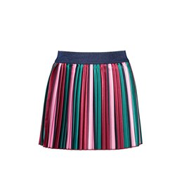 B-Nosy Girls satin pleated skirt with vertical stripes, Fancy stripe