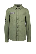 B-Nosy Boys blouse with patched pockets and printed details, Army green