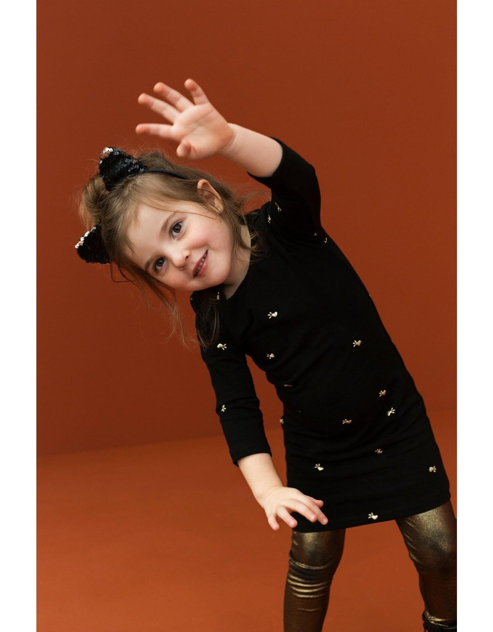 LOOXS Little Little sweat dress l.slee,  black