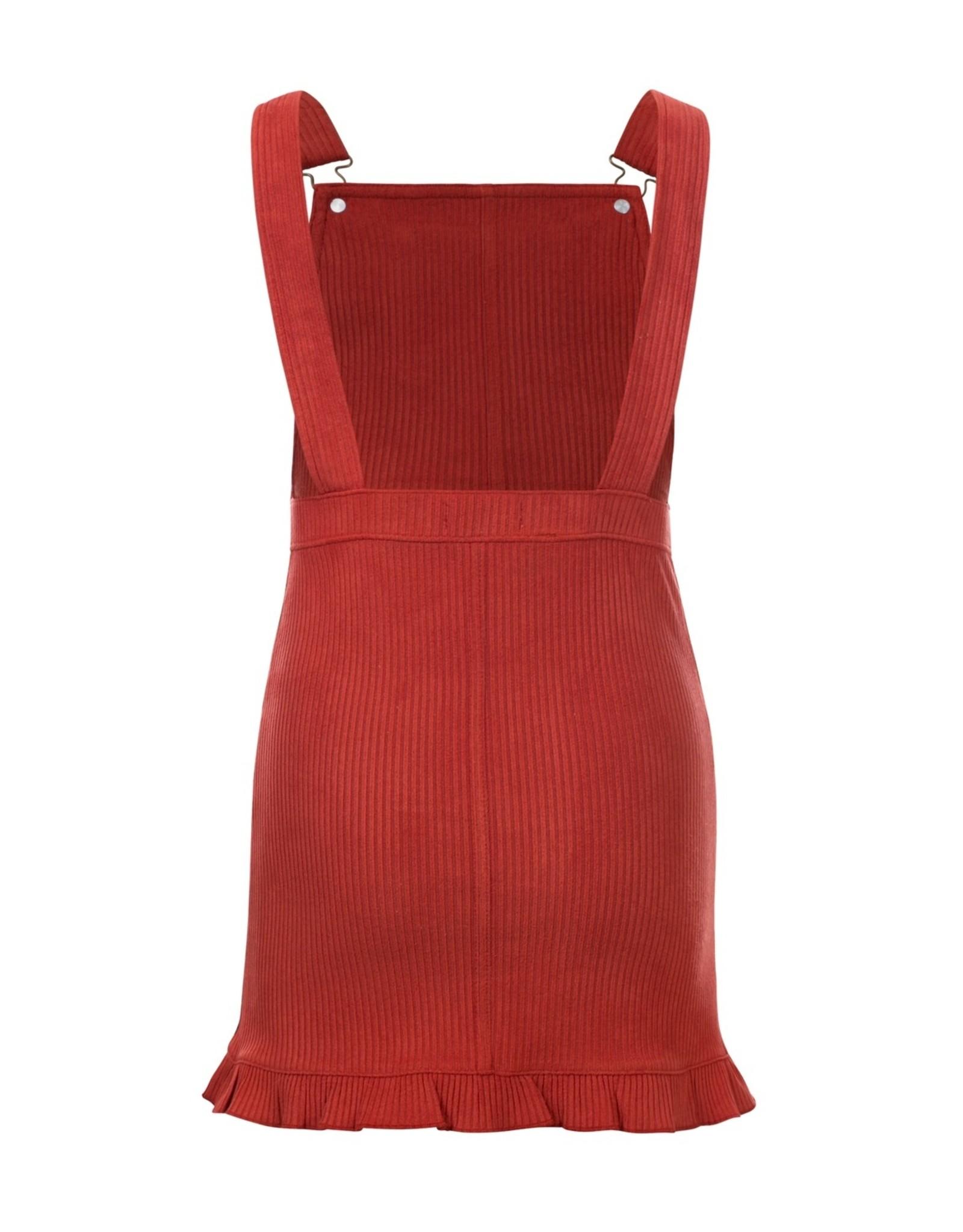LOOXS Little Little salopette dress,  ginger