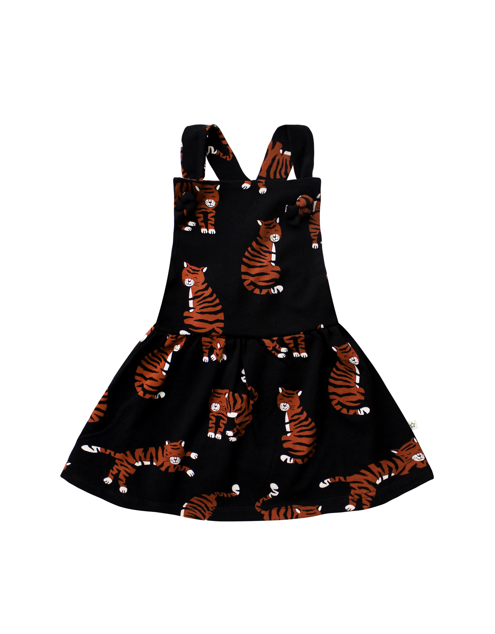 Your Wishes Tigers   Dungaree Dress, Black