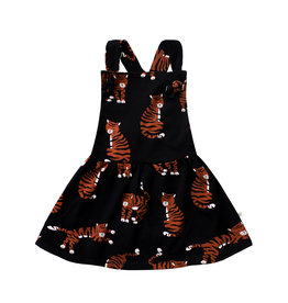 Your Wishes Tigers | Dungaree Dress, Black