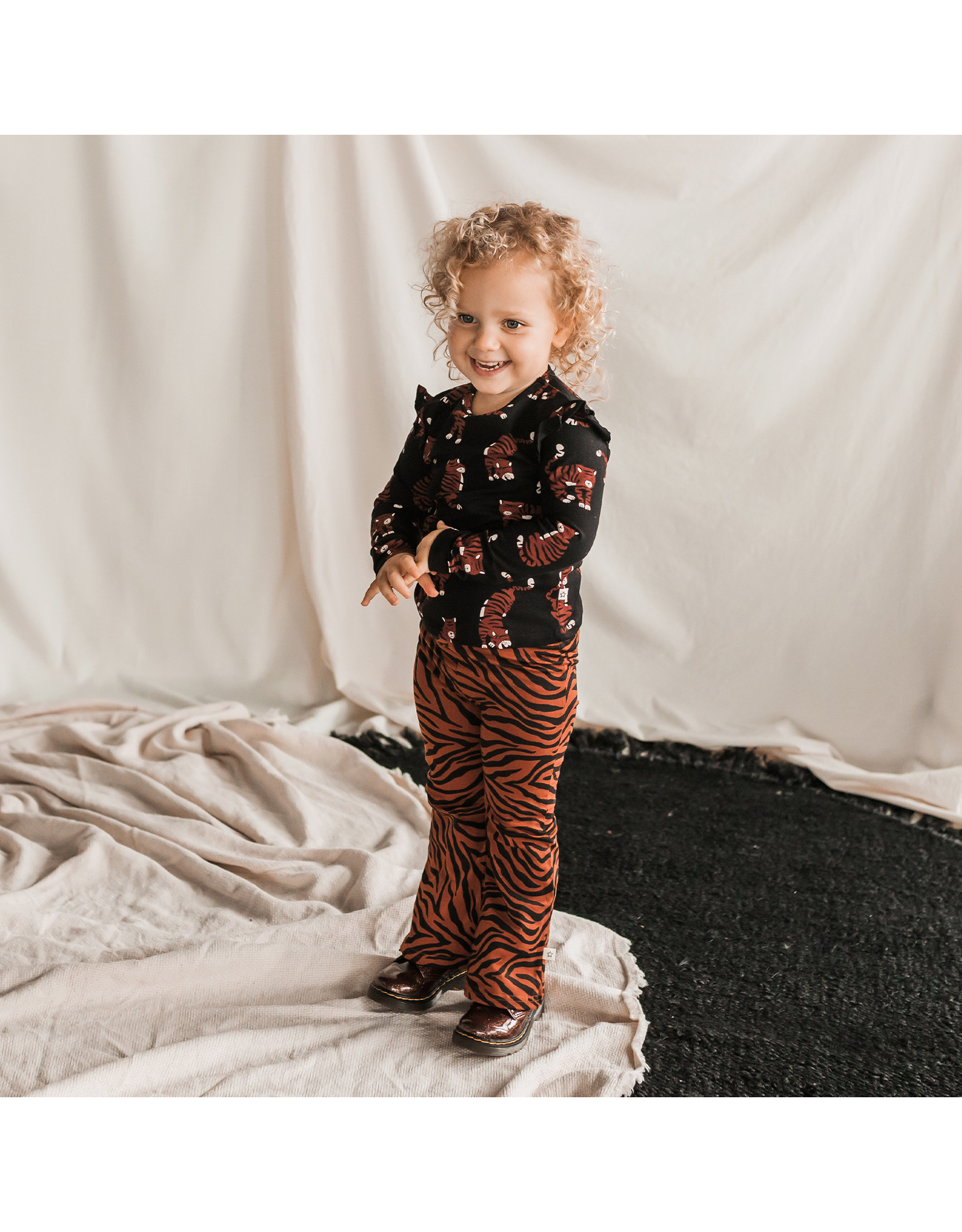 Your Wishes Zebra | Flared Legging, Potters Clay