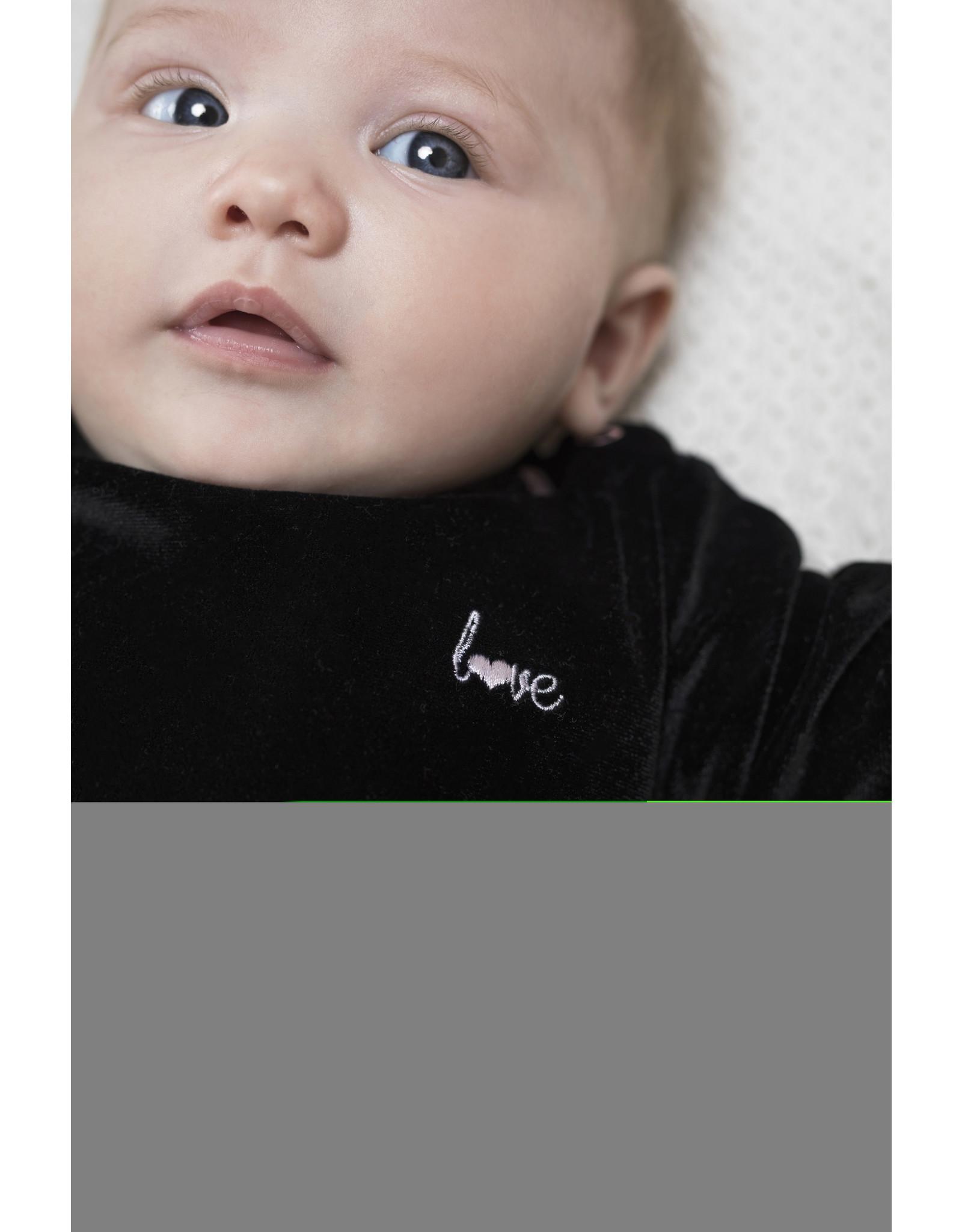 Bampidano Little Bampidano Baby Girls velvet dress Charissa DALMATIAN, anthra
