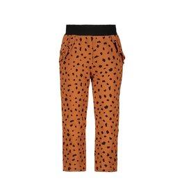 Bampidano Little Bampidano Baby Girls sweat trousers Celine allover print with ruffles DALMATIAN, mocha aop