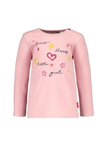 Bampidano Little Bampidano Baby Girls longsleeve Brigit plain 'sweet happy little you' SWEET, light pink