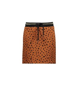 Bampidano Bampidano Junior Girls sweat skirt Coosje check/allover print with rib waist MON CHERI, mocha aop