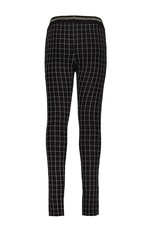 Bampidano Bampidano Junior Girls sweat trousers Caprice check/allover print with striped tape + rib waist MON CHERI, black check